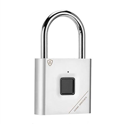 Cerradura de puerta de seguridad Candado con huella digital Candado inteligente Cerradura de puerta sin llave conveniente para maletas para casilleros escolares para cerraduras de gimnasio