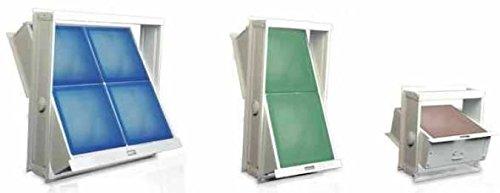 Marco, ventana abatible para bloques de vidrio, disponible e