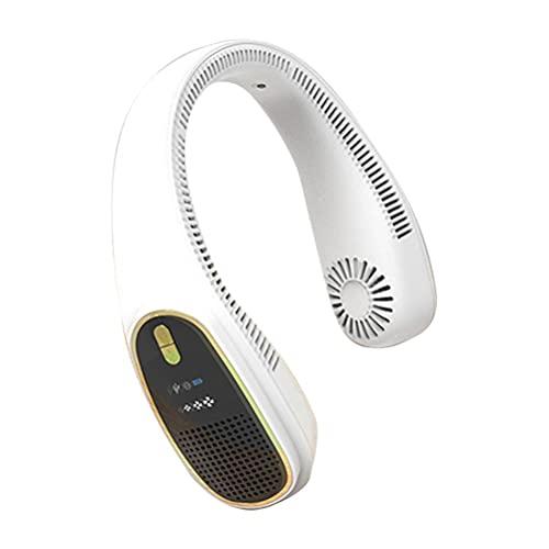 Ventilador de cuello portátil sin hojas para colgar ventilador eléctrico de enfriamiento perezoso para el cuello ventilador USB recargable