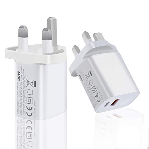 VELEKO iPhone Charger USB C Charger 20W PD USB Charger Plug with Fast Charging Technology Compatible with iPhone 12/12 Mini/12 Pro/12 Pro Max iPad Samsung Google Huawei, Tablet and More