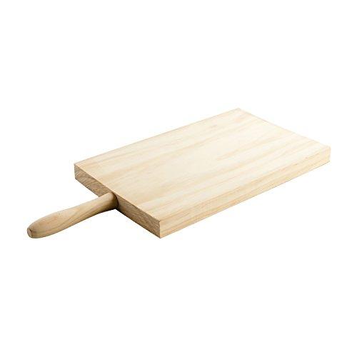 Quid Grettel Planche à découper en Bois avec Manche 30 x 20 cm