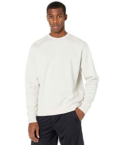 NIKE M NSW Club CRW BB Long Sleeved t-Shirt, Hombre, Light Bone/White, M