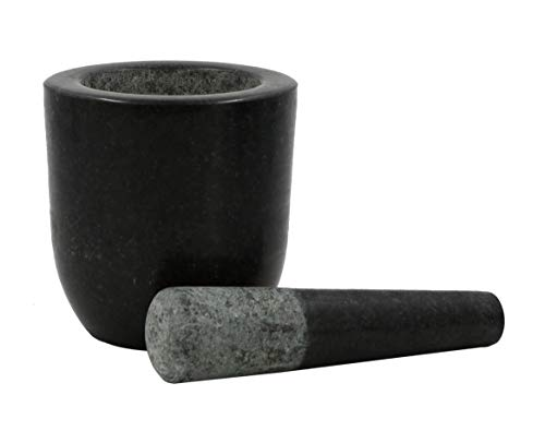 Kota Japan Large Granite Mortar & Pestle Natural Stone Grinder for Spices, Seasonings, Pastes, Pestos and Guacamole