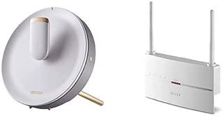 BUFFALO WiFi 無線LAN ルーター WTR-M2133HP 11ac 866+866+400Mbps 最大27台 4LDK 【トライバンド搭載】  +BUFFALO WiFi 無線LAN 中継機 WEX-1166DHP 11ac 866+300Mbps コンセント直挿しモデル 【iPhone8/X対応
