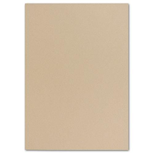 100 DIN A4 Papierbogen Planobogen -Karamel - 160 g/m² - 21 x 29,7 cm - Bastelbogen Ton-Papier Fotokarton Bastel-Papier Ton-Karton - FarbenFroh®