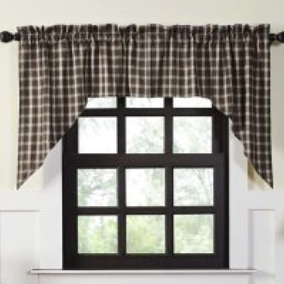OKSLO Loon Peak Dissay Lined Swag Kitchen Curtain (Set of 2)