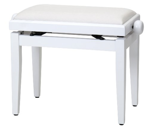 Steinmayer 27630 - Banqueta piano, color blanco mate