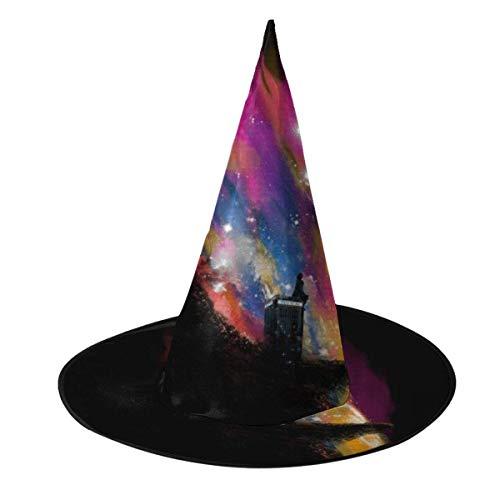 Sombrero de Halloween Atardecer en Gallifrey Doctor Who Sombrero de Bruja Halloween Disfraz Unisex para Vacaciones Halloween Navidad Carnavales Fiesta