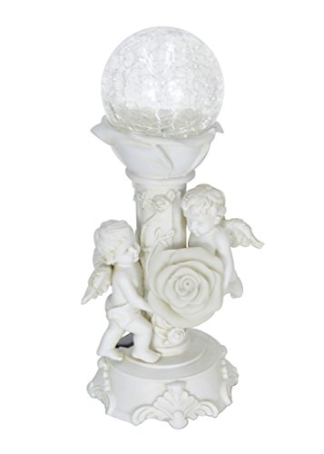 HOMESHINE Mother Day Gifts Solar Cherub Angel Baby Garden Statues and Figurines Outdoor décor Lights Holiday Gifts