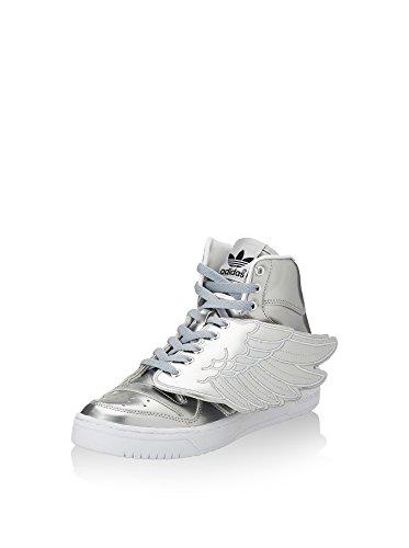 adidas Unisex-Erwachsene Js Wings Metal Hightop Sneaker, silberfarben, 40 EU