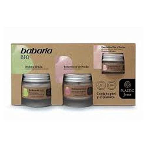 Babaria, Estuche cuidado facial mujer BIO, compuesto por una Crema Hidratante de Dia 50ml, una Crema Rejuvenece de Noche 50ml y un Contorno de ojos 15ml
