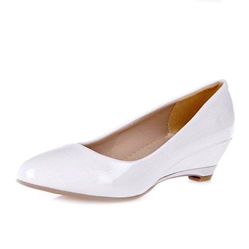 SJJH Damen Fashion Pumps mit Keilabsatz Schuhe