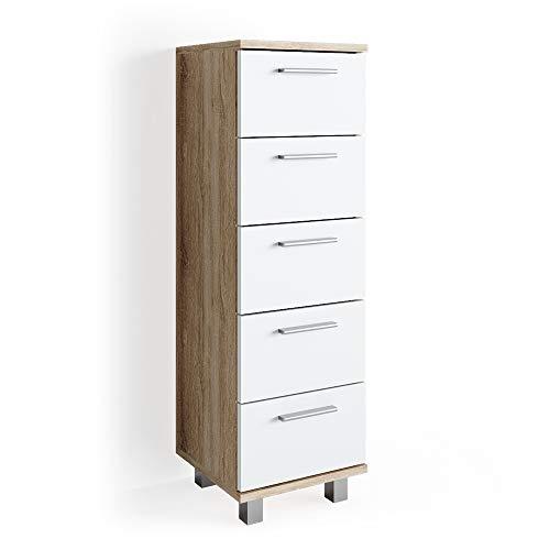 *Vicco Beistellschrank Ilias 95 x 30 cm – Midischrank Badezimmerschrank Badschrank Schrank Regal (Sonoma)*