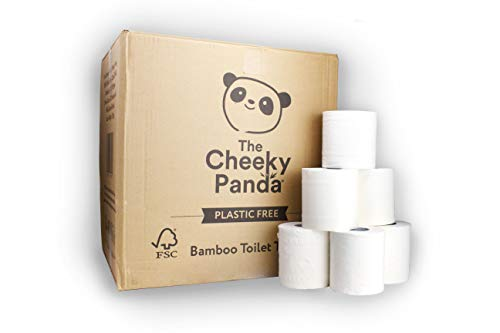 The Cheeky Panda – Bamboo Toilet Tissue Paper | Bulk Box of 48 Rolls (3 Ply, 200 Sheets) | No Unnecessary Packaging…