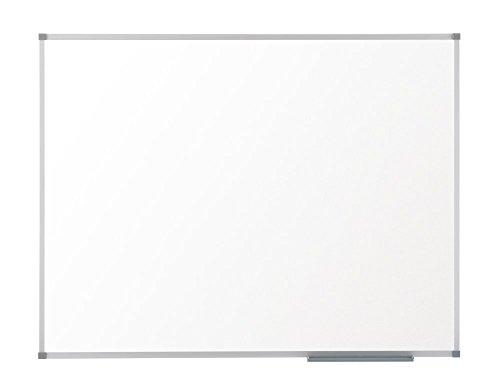 Nobo Basic - Pizarra en acero, magnética, con marco en aluminio, grande 1800 x 1200 mm, color blanco