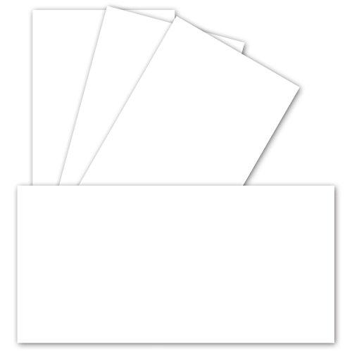 50 Stück Einzelkarten DIN Lang Matt - Hochweiß -Premium QUALITÄT - 99 x 210 mm - 250 g/m² - sehr formstabil - für Drucker geeignet Ideal für Grußkarten und Einladungen - Gustav NEUSER