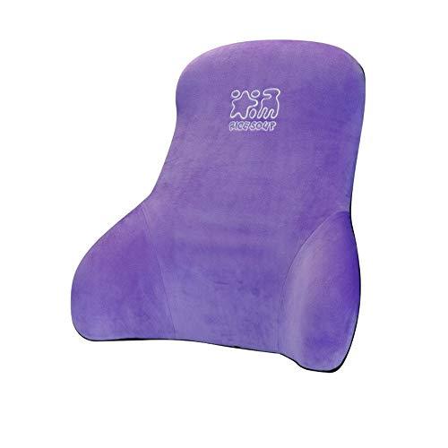 MAATCHH Car Lumbar Pillow Car Seat Lumbar Pillow Cushion Memory Foam Orthopedic Back Breathable Ergonomic Design Office Chair Back Support (Color : Purple)