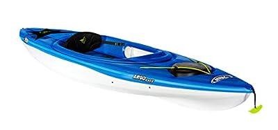 Pelican Sit-in Kayak -10 Feet Lightweight one Person Kayak (Argo 100X, Fade deep Blue White, Recreational, KFF10P300-00)