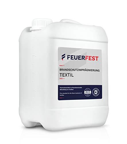 FEUERFEST® Brandschutzimprägnierung Textil 5l - B1 DIN 4102 - Oeko-TEX, Feuerschutzmittel, Brandschutzmittel