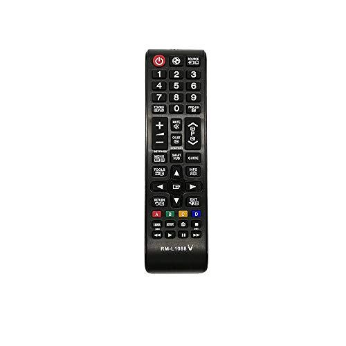 HUAYU Mando a distancia de repuesto para televisor Samsung RM-L1088+, funciona con todos los televisores Samsung (LED, LCD, plasma)