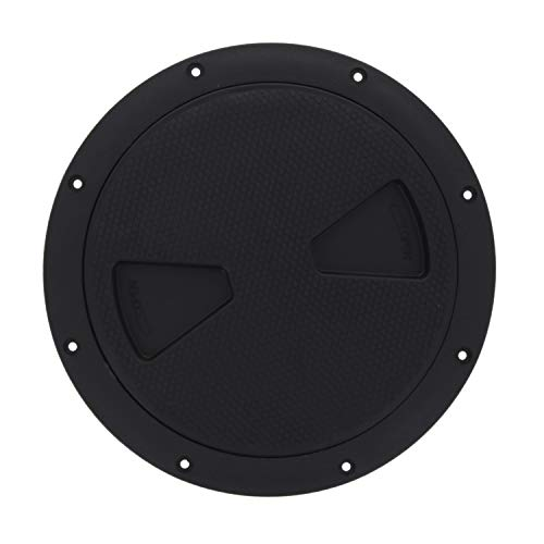 TCH Hardware 4 White Round Deck Plate Inspection Hatch Detachable Water Tight Lid