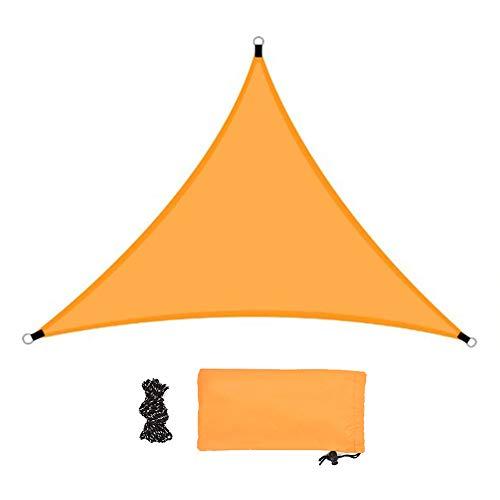 LACKINGONE Voile d'Ombrage Triangulaire en Polyester avec Kit de Montage, Anti-UV 98%   3 * 3 * 3m   Tissu Imperméable, Idéal pour Terrasse/Jardin/Patio de Café/Camping/Piscine - Orange