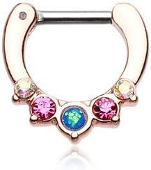 WildKlass Jewelry Rose Gold Septum Clicker 16g 1/4