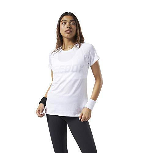 Reebok Os Smartvent tee Camiseta, Mujer, White, M