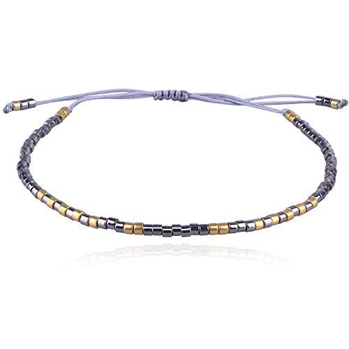 C·QUAN CHI 2020 Nuevo Leopardo Miyuki Beads Link Pulsera Amistad Pulsera Colorida Pila Ajustable Brazalete Charm Joyas para Mujeres