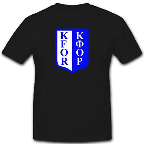 Kfor Armee Militär Bundeswehr Einheit Albanien Kosovo Krieg Jugoslawien NATO Truppen Soldaten- T Shirt #1918, Größe:XL, Farbe:Schwarz