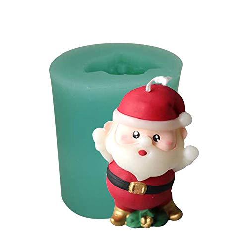 Molde de silicona de calidad alimentaria con diseño de Papá Noel