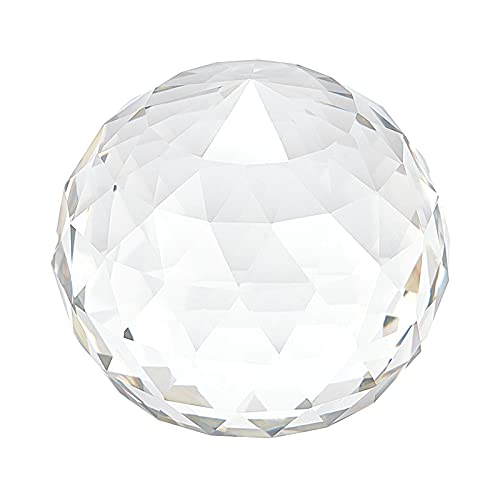 AHANDMAKER Bola de cristal facetada, bola de cristal de corte transparente de...