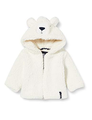 Joules Tom Unisex Baby Cuddle Fleece-Jacke, White Bear, Upto3m