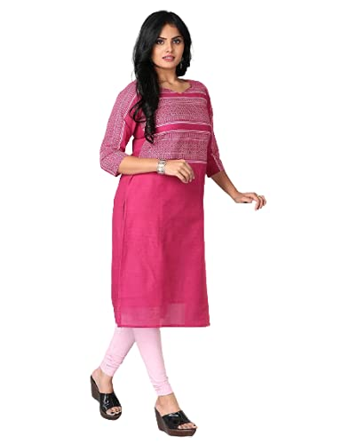 Urban Purple Designer Straight Cotton Kurti with Cotton Lining UP004