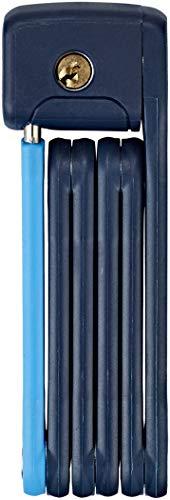 ABUS Faltschloss Bordo Lite Mini 6055/60 - Extra-leichtes Fahrradschloss aus Spezialstahl - Sicherheitslevel 7 - 60 cm - 78062 - Dunkelblau-Hellblau