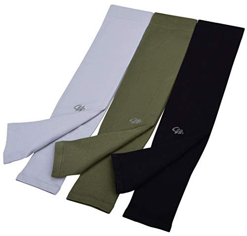 Arm Cooling Sleeves UPF 50+ UV Sun Protection for Cycling Outdoor Sports 3-pairs