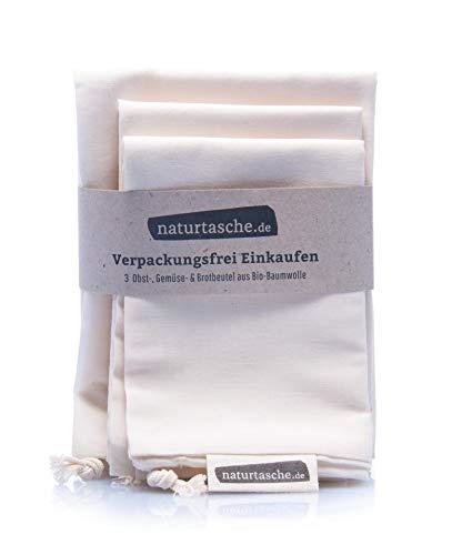 Naturtasche Brotbeutel 3erSet