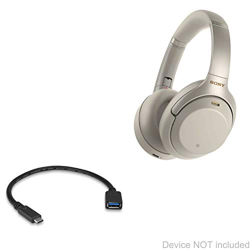 Cabo Sony WH-1000XM3, BoxWave [Adaptador de Expansão USB] Adicione hardware ligado ao seu telefone para Sony WH-1000XM3