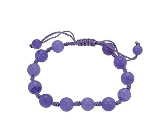 Adjustable Macrame Genuine Lavender Jade