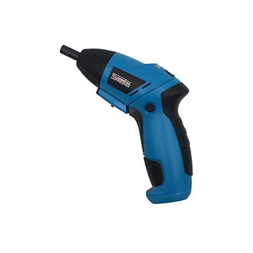 X-Power - 4 pilas AA de 6 V (no incluidas), atornillador articulado, atornillador articulado, atornillador de doble; sellected by sinpross; incluye 10 puntas; 2 años de garantía; color azul