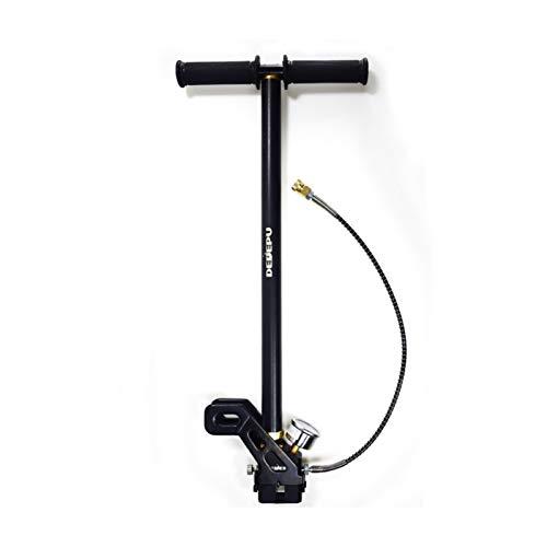 HEQIE-YONGP Buceo Equipo de Buceo bombonas de oxígeno Bomba Manual de Alta presión del Cilindro de Buceo de Buceo, Tanque de oxígeno, Mini Compresor, 30 MPa, de Segunda generación (Color : Black)