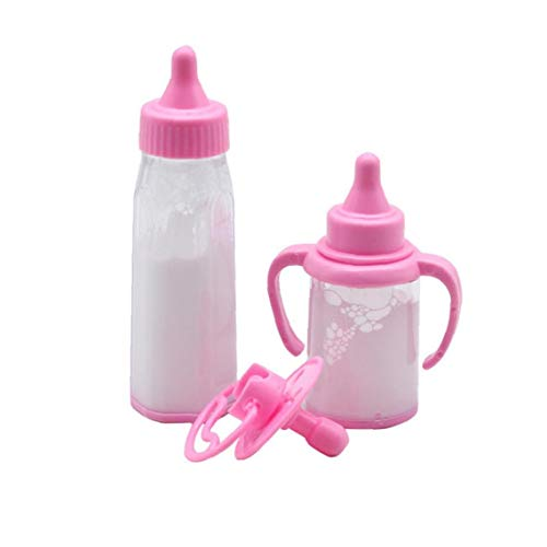 Simulation Mini-Baby-Flasche Kreativer Plastik Micro Baby Doll Flasche Schnuller 18 Zoll Puppe Bewegliche Milchflasche Modell Baby Doll Zubehör Für Kinder 3pcs