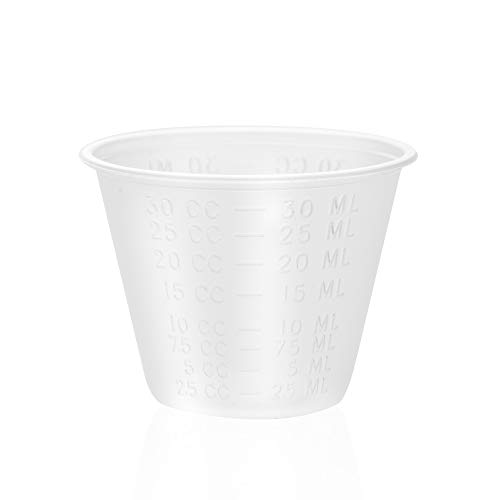 Dealmed Brand Disposable, Graduated, Plastic Medicine Cups with Liquid Measuring, 1 oz, 200 count