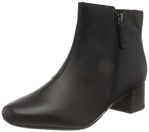Clarks Damen Marilyn Beth Stiefelette, Black Leather, 40 EU