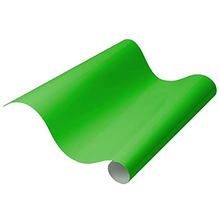"""PU Heat Transfer Vinyl - Iron On HTV, 12"""" x 19"""" Roll   for Custom DIY Designs, T-Shirts, Home Decor, Crafts   Easy to Cut, Weed, and Transfer   Compatible with All Cutters - (Neon Green)"""
