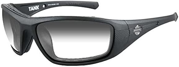 Harley-Davidson Men's Tank Sunglasses, Smoke Gray Lens/Matte Black Frame HDTAN05