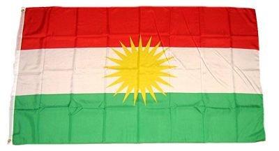 Vlag Vaandel Koerdistan 90 x 150 cm FLAGGENMAE®