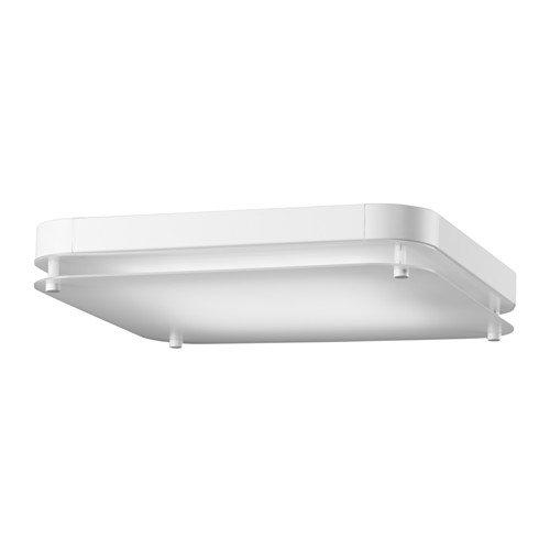 IKEA LEVANG LED Deckenleuchte in weiß; quadratisch; A+
