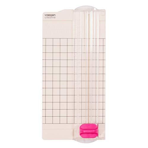 Vaessen Creative 2137-049 Mini, 2.5 x 6 Pulgadas, Cortadora Pequeña para Crear Tarjetas, Ideas de Scrapbooking y Creativas Manualidades de Papel, Blanco, 6,5x15,3cm