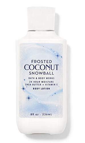 Bath and Body Works Body Care  Frosted Coconut Snowball  24 Hour Moisture Body Lotion w/Shea Butter  Vitamin E  Full Size 8 fl oz